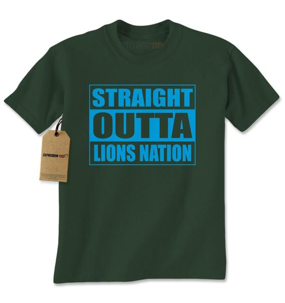 Straight Outta Lions Nation Football Mens T-shirt