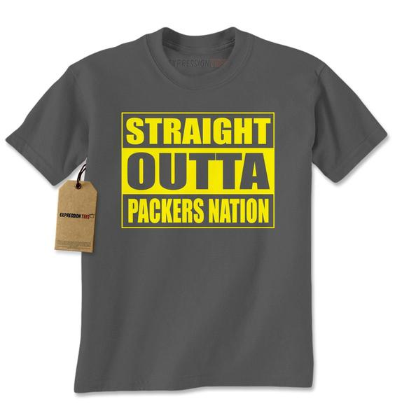 Straight Outta Packers Nation Football Mens T-shirt