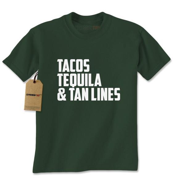 Tacos, Tequila & Tan Lines Mens T-shirt