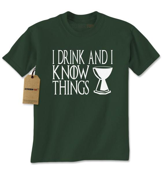 That's What I Do, I drink And I Know Things GoT Mens T-shirt