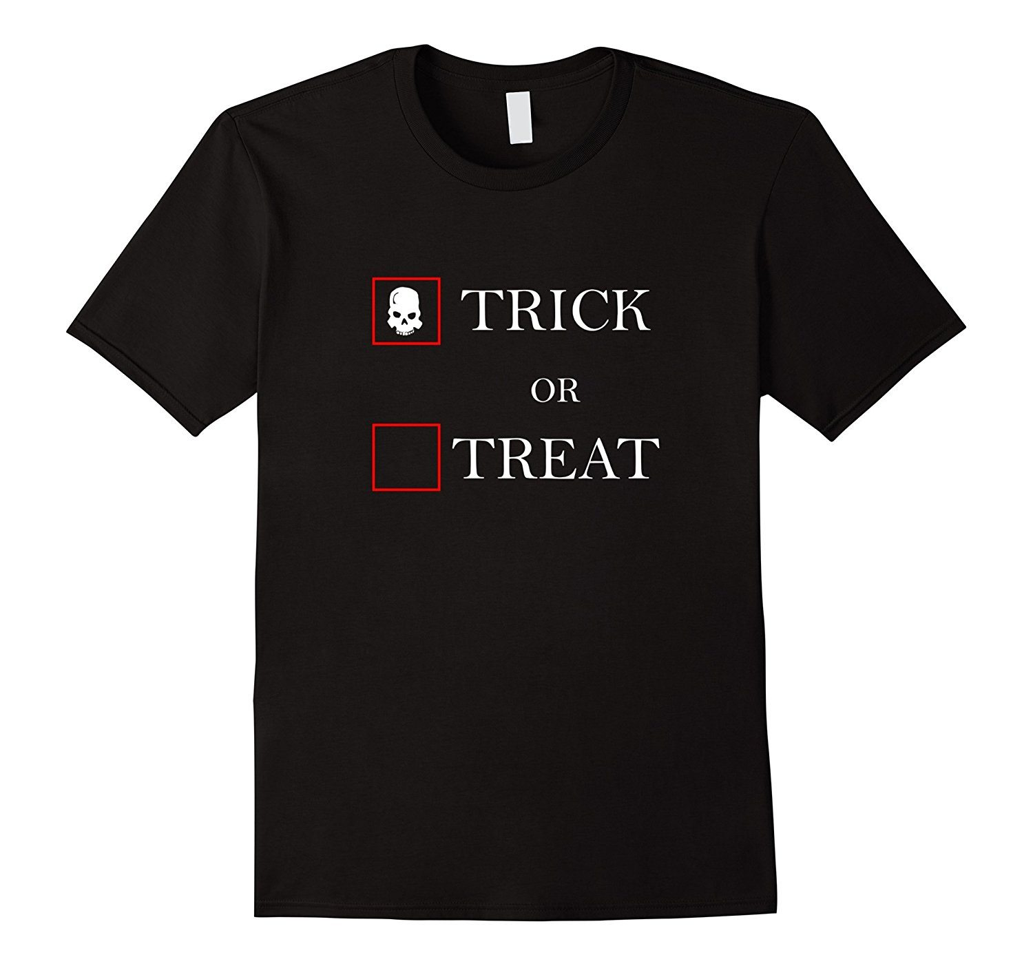 Trick or Treat Halloween Shirt- with Skull