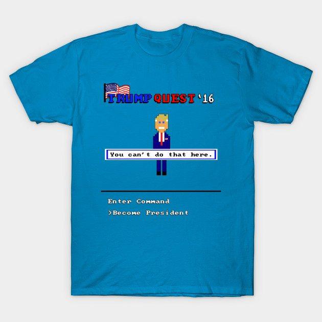 Trump Quest '16 Retro Computer Adventure Game T-Shirt