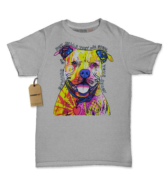 Beware Of Pit Bulls, They Will Steal Your Heart Womens T-shirt