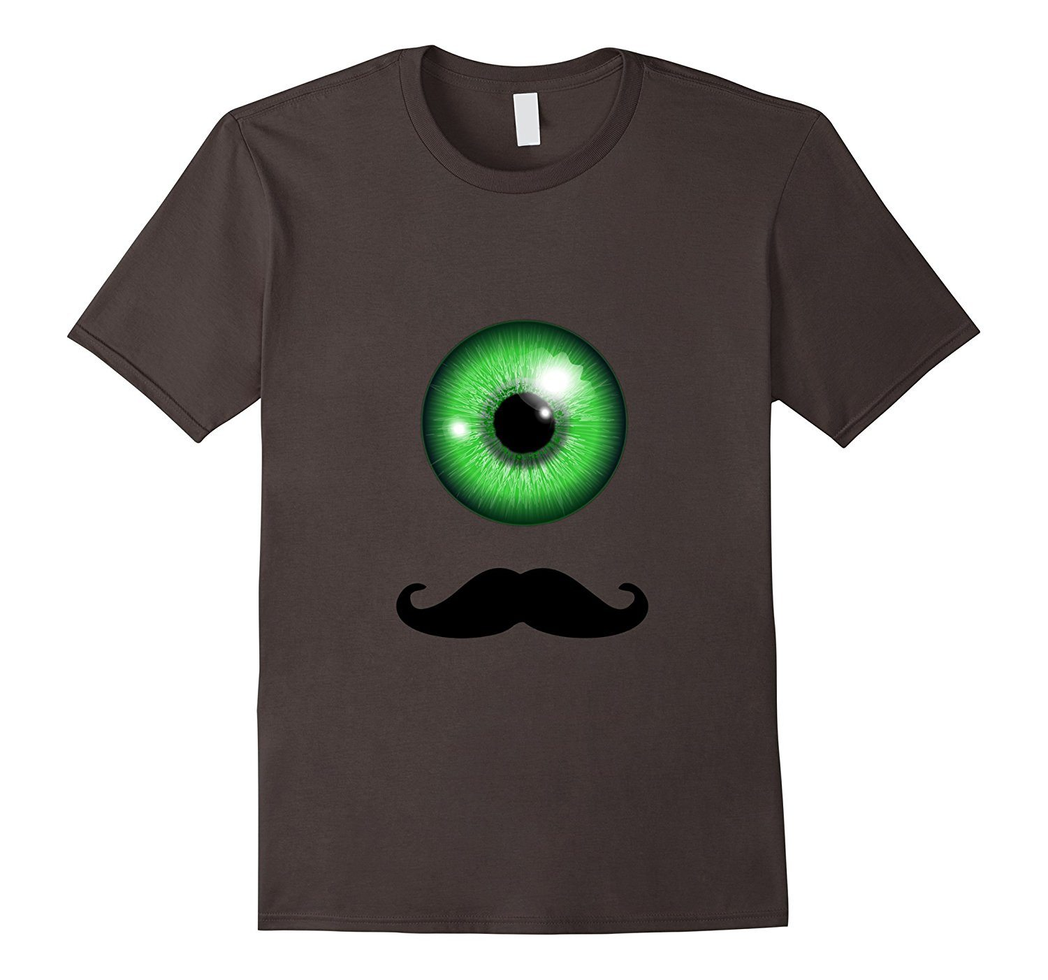 Big Green Eye with Mustache Graphic