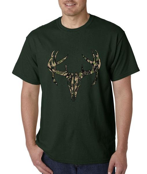 Camo Deer Skull – Woodland Mens T-shirt