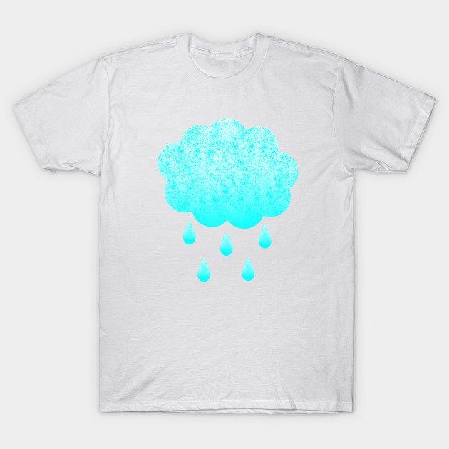 Cloud and raindrops