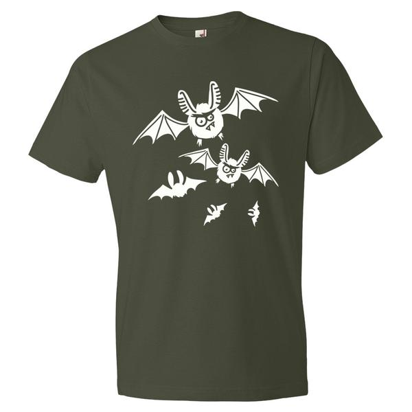 Crazy Bats Halloween T Shirt