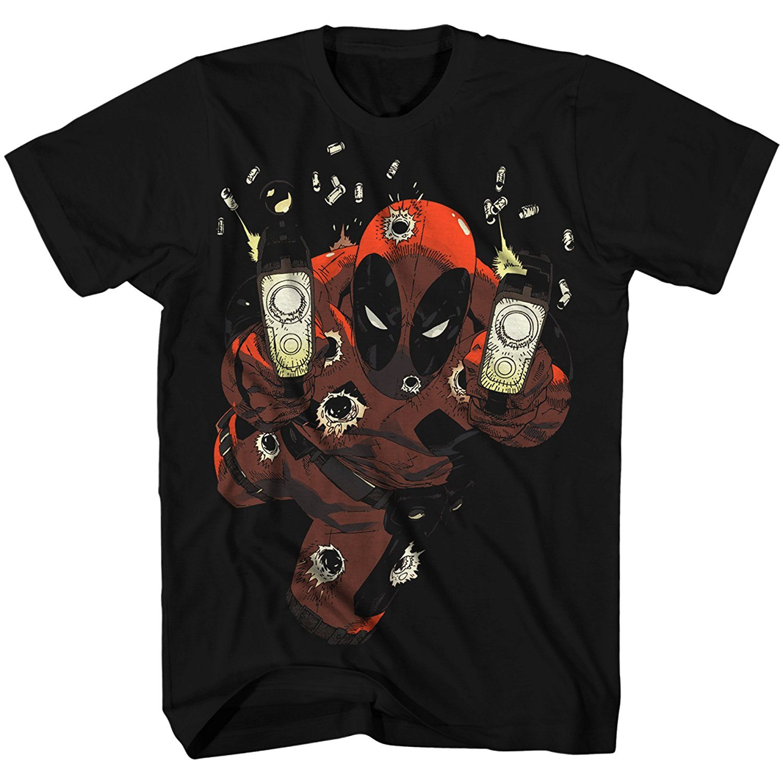 Deadpool Empty Clips Glow in the Dark Mens Black