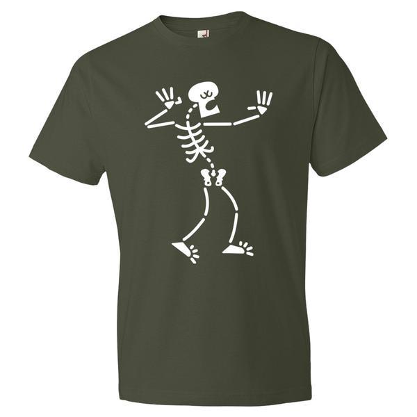 Drunk Skeleton Halloween T Shirt