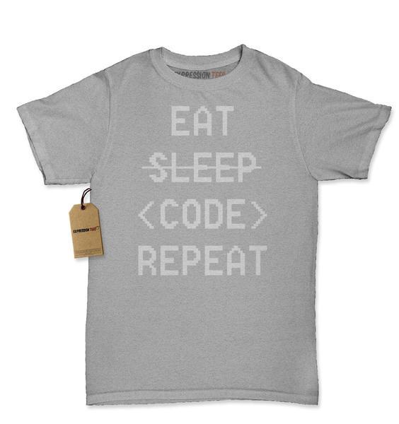 Eat Sleep Code Repeat Womens T-shirt