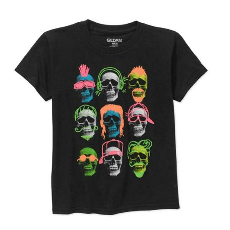 Grid of Skulls Glow in the Dark Boys