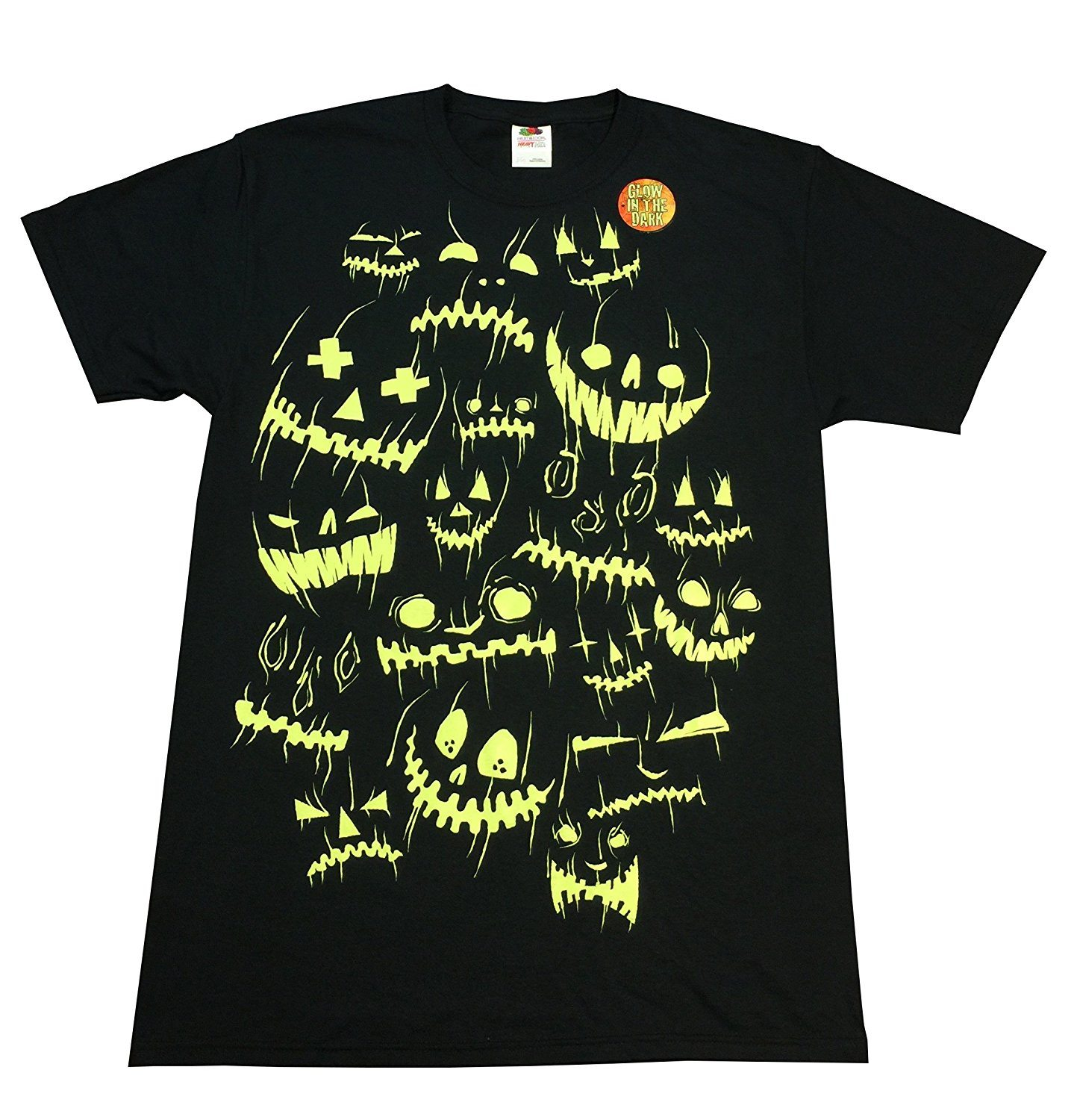 Halloween Jack O Lantern Faces Black Graphic