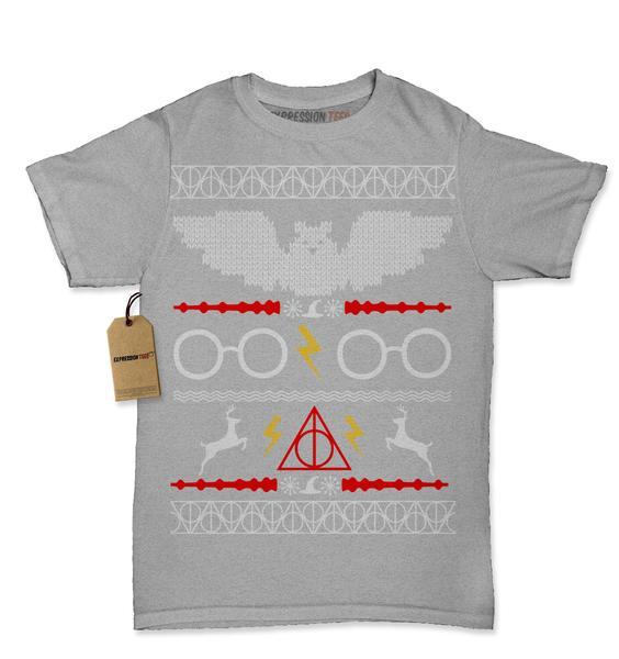 Hogwarts Ugly Christmas Holiday Womens T-shirt