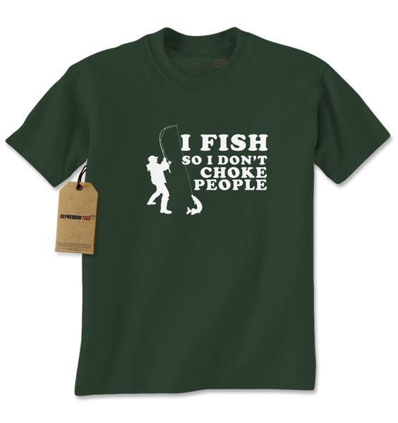 I Fish So I Don't Choke People Mens T-shirt