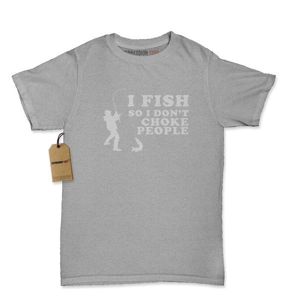 I Fish So I Don't Choke People Womens T-shirt
