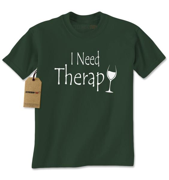 I Need Therapy Wine Glass Mens T-shirt