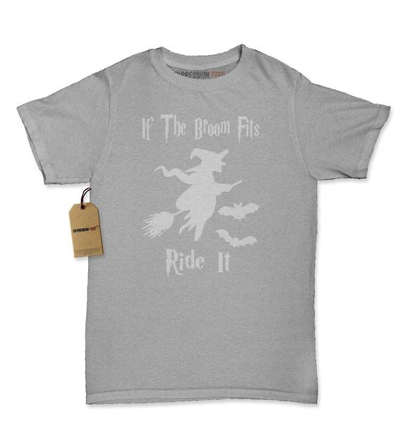 If The Broom Fits Ride It Witch Womens T-shirt