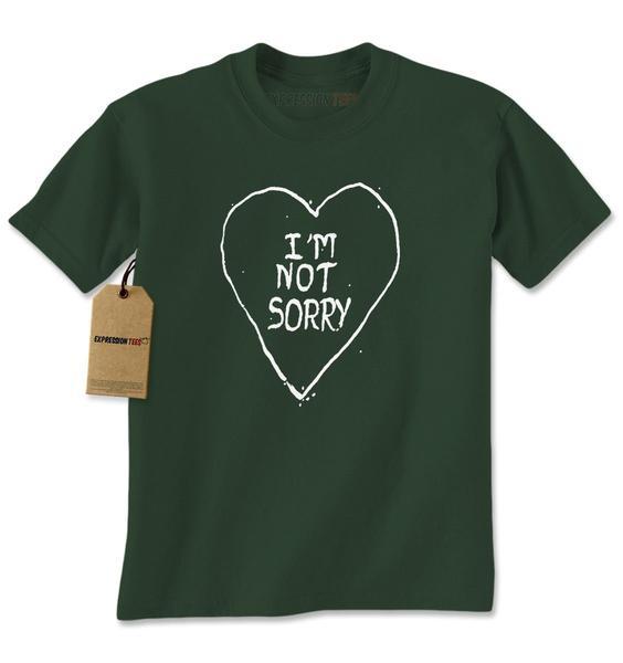 I'm Not Sorry Heart Mens T-shirt