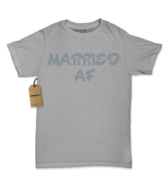 Married AF As Fuck Bride and Groom Womens T-shirt