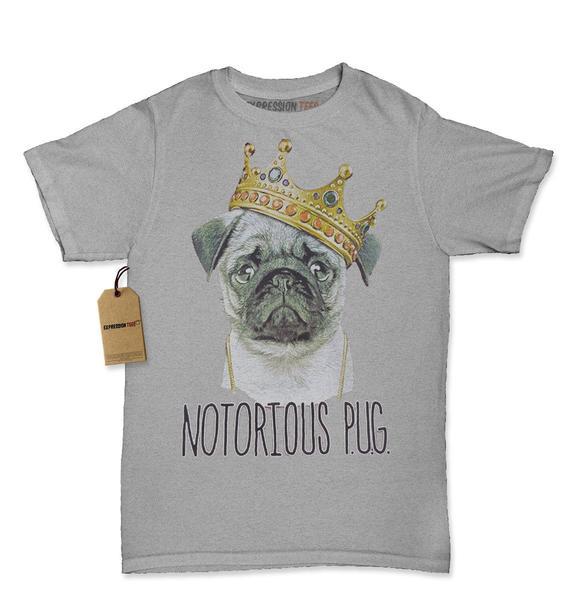 Notorious P.U.G. Biggie Pug Life Womens T-shirt