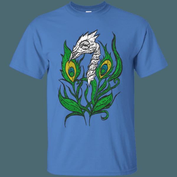 Peacock Skull & Feathers Men's T-Shirt