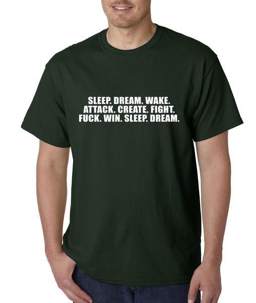Sleep. Dream. Wake. Attack. Create… Mens T-shirt