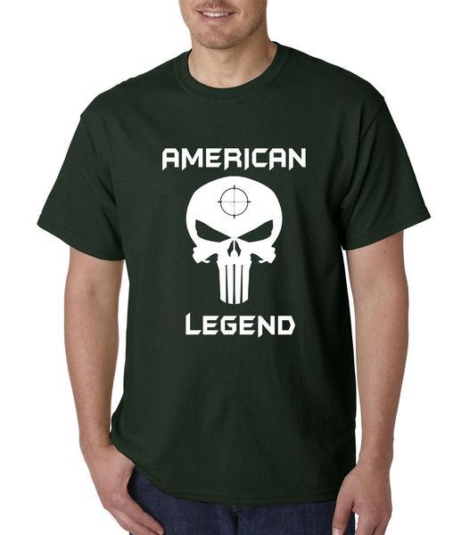 Sniper American Legend Skull Mens T-shirt