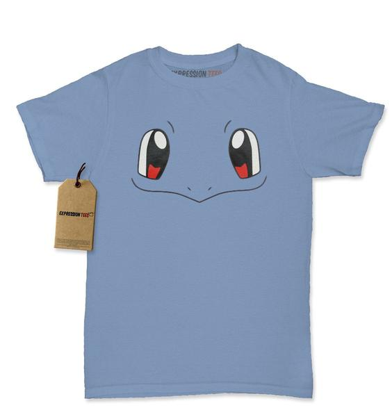 Squirtle Blue Pokemon Funny Face Womens T-shirt