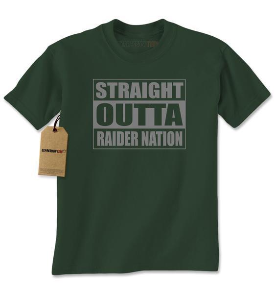 Straight Outta Raider Nation Mens T-shirt