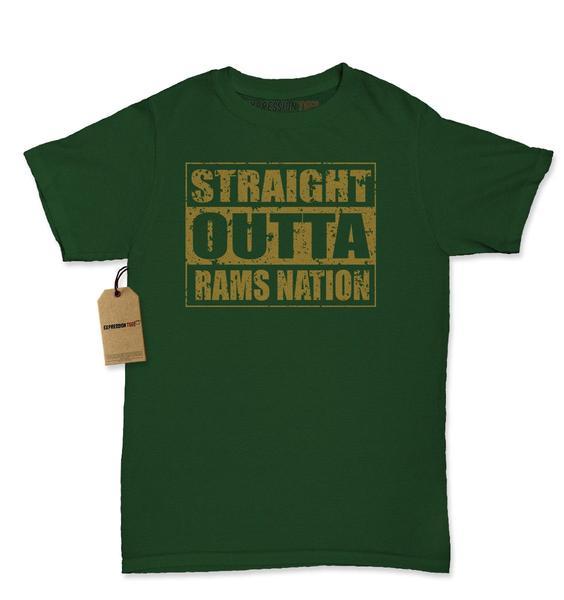 Straight Outta Rams Nation Football Womens T-shirt