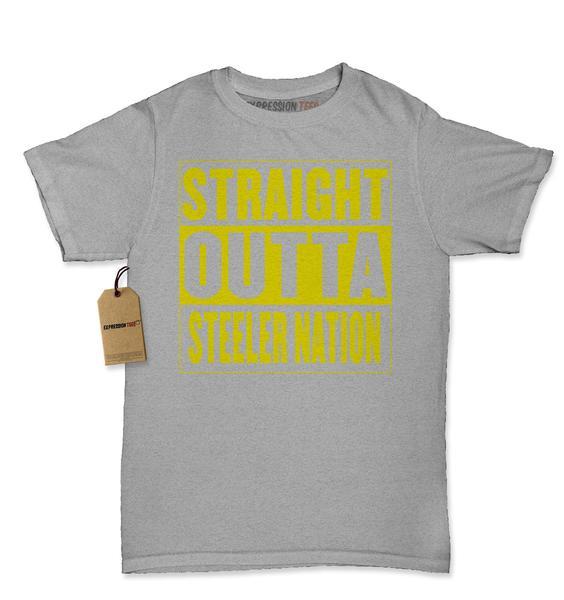 Straight Outta Steeler Nation Football Womens T-shirt
