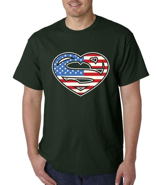 Super American Flag Mens T-shirt