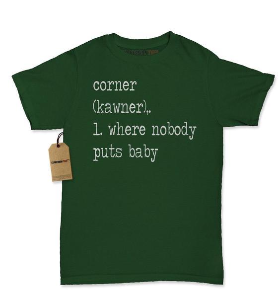 The Corner – Where Nobody Puts Baby Womens T-shirt