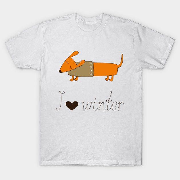 Winter dachshund T-Shirt
