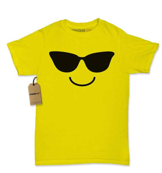 Womens Emoji Smiley Face Emoticon T-shirt Collection