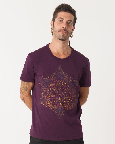 Anahata T-shirt ➟ Purple / Brown / Olive