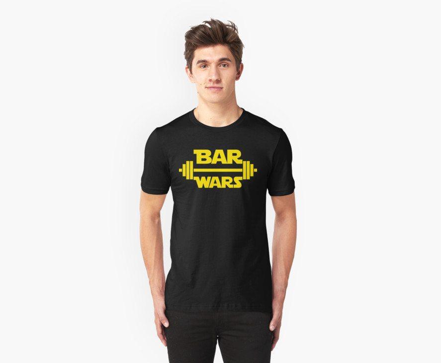 BAR WARS – Yellow/Dark Parody Design for Weight Lifters