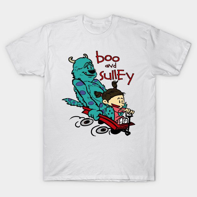 Boo and Sulley as Calvin and Hobbes T-Shirt