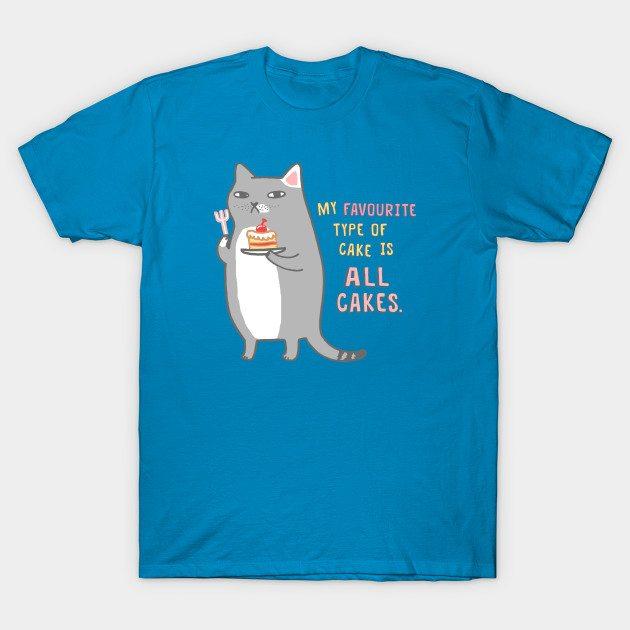 Celebration Cat – Favourite Type Of Cake T-Shirt