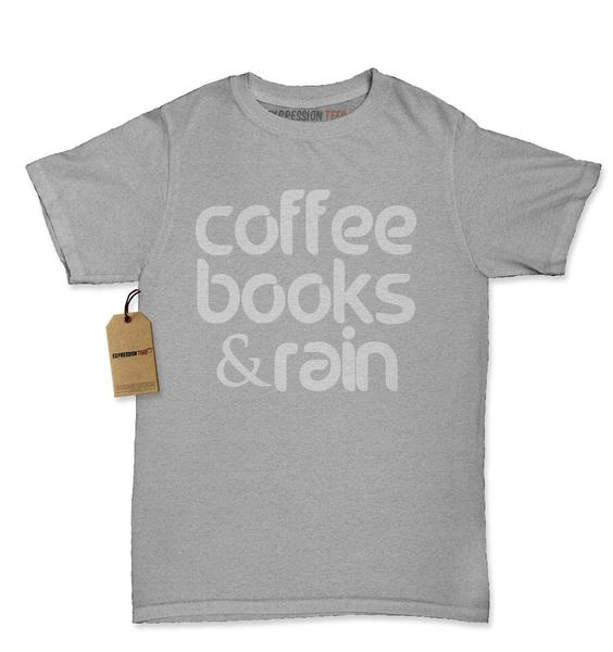 Coffee, Books And Rain Womens T-shirt