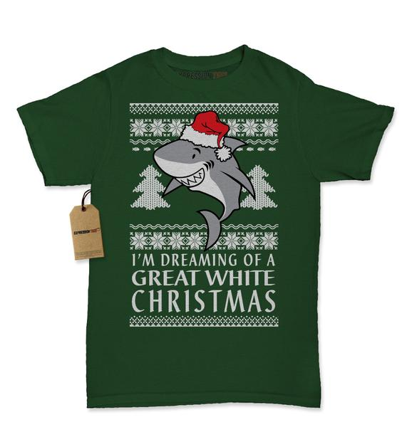 Dreaming Of A Great White Christmas Womens T-shirt