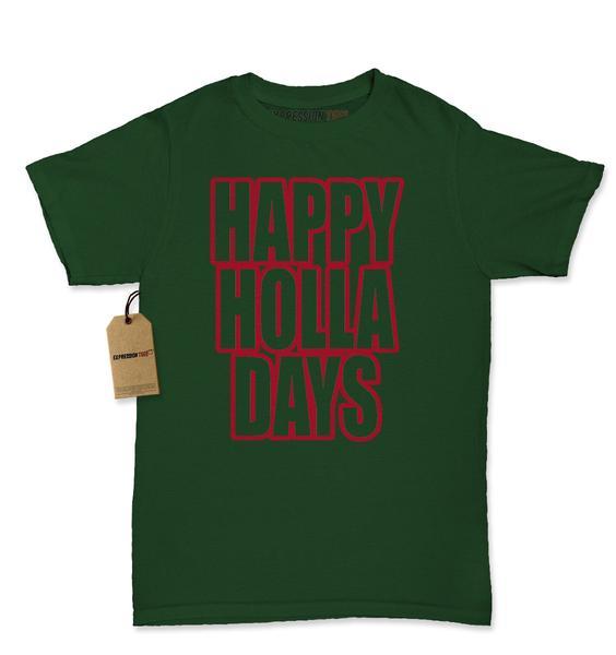 Happy Holla Days Happy Holidays Christmas Womens T-shirt