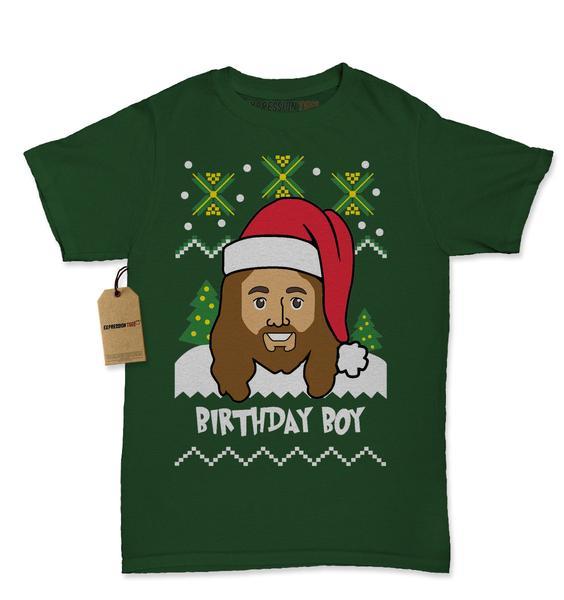 Jesus Birthday Boy Ugly Christmas Womens T-shirt