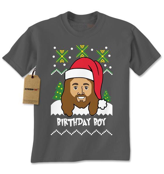 Jesus The Birthday Boy Ugly Christmas Mens T-shirt