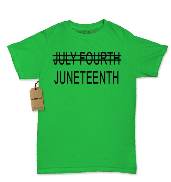 Juneteenth (July Fourth Crossed Out) Womens T-shirt