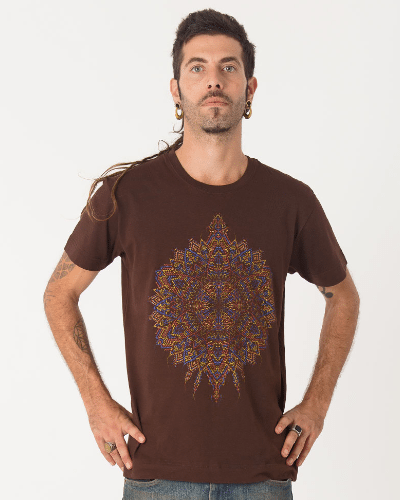 Mexica T-shirt ➟ Purple / Brown / Olive