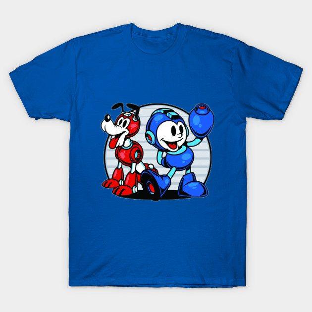 Mickey and Pluto Mega Man T-Shirt