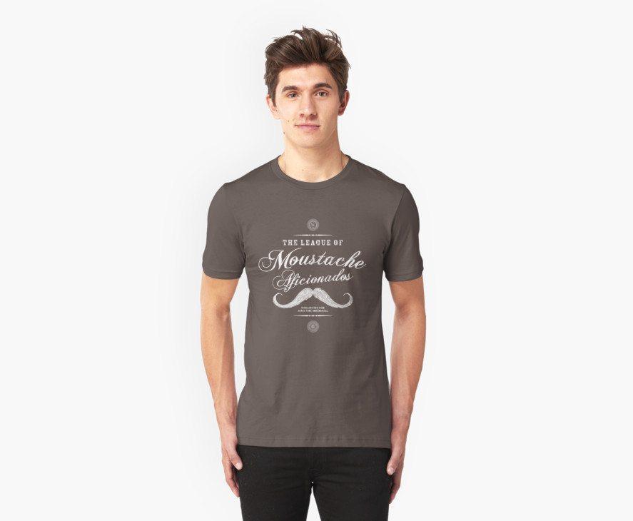 Movember – Moustache Afficionado League white