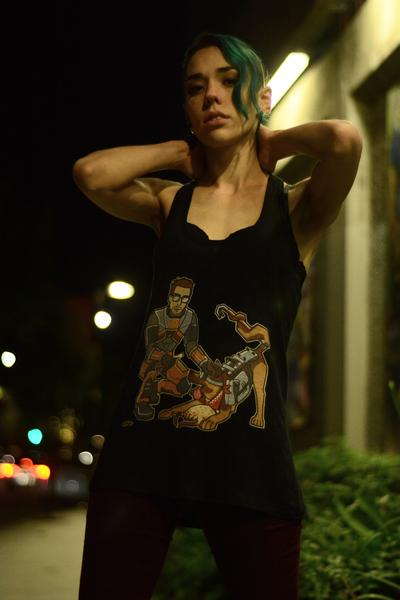Of Canines and Crowbars Racer Back Tank Top