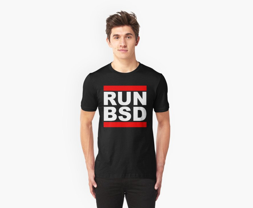 RUN BSD – Parody Design for Unix Hackers / Sysadmins